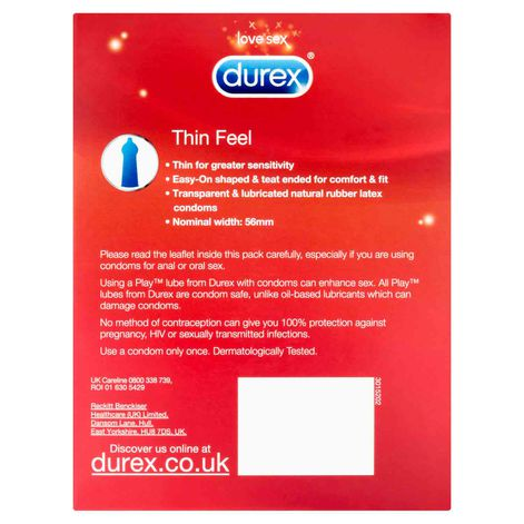 Durex Thin Feel Condoms 20 Pack