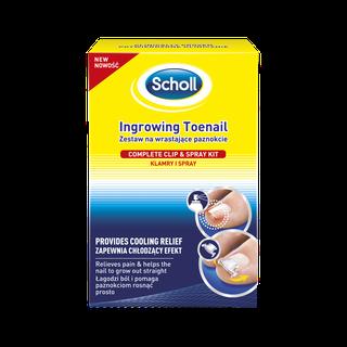 Scholl sisäänkasvaneen varpaankynnen hoitosetti