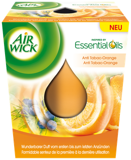 Air Wick Bougie d'Ambiance Anti-Tabac Orange