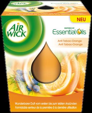 Air Wick Bougie d'Ambiance Anti-Tabac Orange