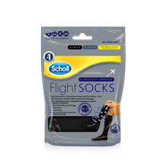 Scholl Flight Socks Black sizes 9.5-12