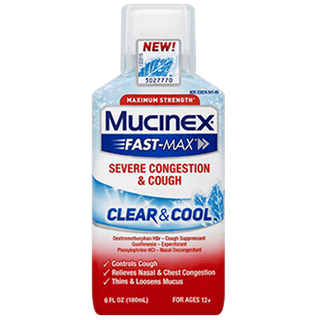 Mucinex® Fast-Max® Clear & Cool, Severe Congestion & Cough