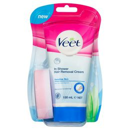 Veet® Silk & Fresh In-Shower Hair Removal Cream Sensitive Skin 150ml