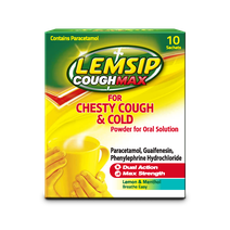 Lemsip Cough Max Chesty Cough + Cold Lemon Hot Drink 10s