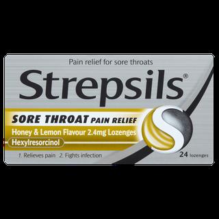 Strepsils Sore Throat Pain Relief Honey & Lemon Lozenges