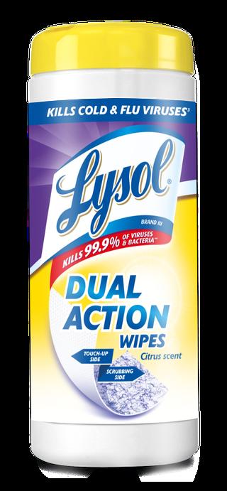 Lysol® Toallitas Desinfectantes para superficies Wipes -  Dual Action