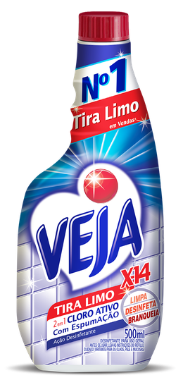 VEJA  BANHEIRO X14 TIRA LIMO  REFIL 500ML