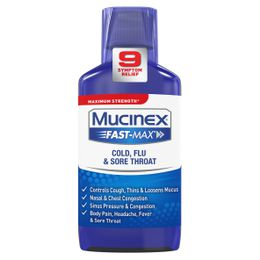 Maximum Strength* MUCINEX® Fast-Max® Cold, Flu & Sore Throat (liquid)