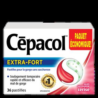 Cepacol extra-fort sans saccharose cerise
