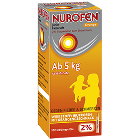 Nurofen ® Junior Fiebersaft 2% Suspension zum Einnehmen Orange 150 ml