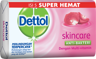 Sabun Anti Bakteri Dettol Skincare (4+1 65g)