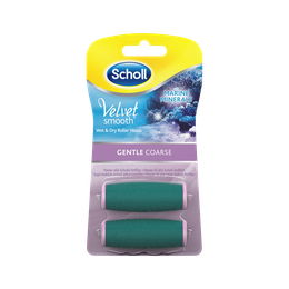 Scholl Velvet Smooth Refills med havsmineraler - Gentle Coarse 2 st.