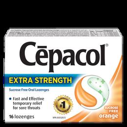 Cepacol Extra Strength - Sucrose Free Orange