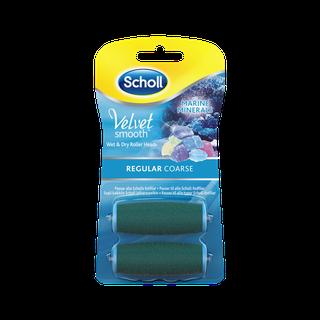 Scholl Velvet Smooth Refills med havmineraler - Regular Coarse 2 stk.