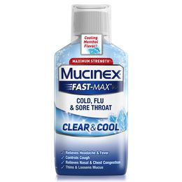 Maximum Strength* MUCINEX® Fast-Max® Clear & Cool Cold, Flu & Sore Throat Liquid