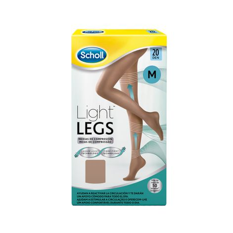 Medias de compresión ligera Scholl Light Legs 20 DEN color carne M