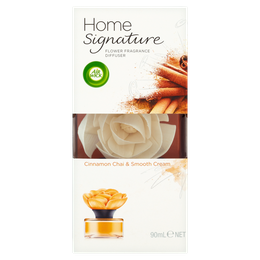 Air Wick Home Signature Flower Diffuser - Cinnamon Chai & Smooth Cream