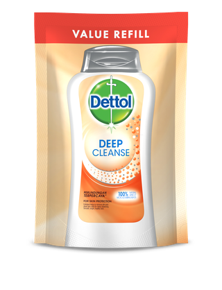 Sabun Cair Anti Bakteri Dettol Deep Cleanse (Pouch 400ml)