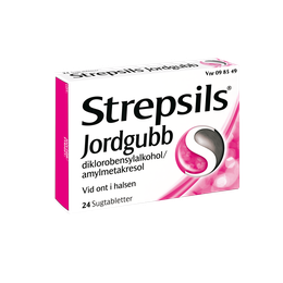 Strepsils Jordgubb sugtabletter 24 st.