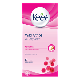 Veet® Wax Strips with Easy Grip™ for Normal Skin (12's)