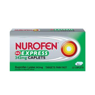 Nurofen Express Caplet 342mg Ibuprofen Lysine
