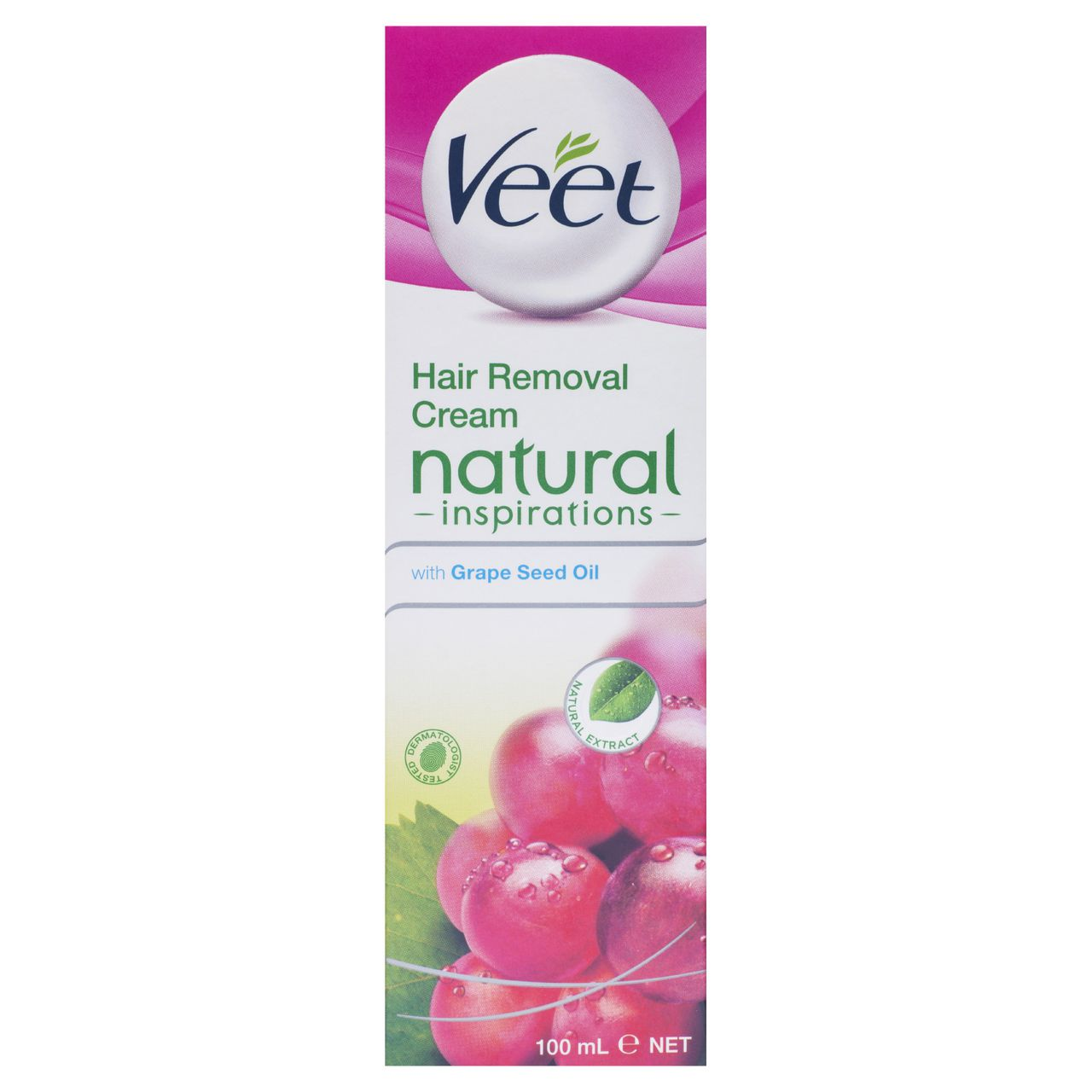 Veet Natural Inspirations Hair Removal Cream With Grape Seed Oil