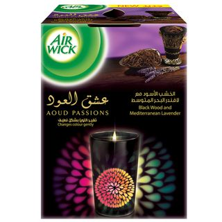 Aoud Passions Black Wood and Mediterranean Lavender Glowing Candle