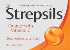 STREPSILS LOZENGES ORANGE C 2's