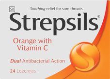 STREPSILS LOZENGES ORANGE C 2's