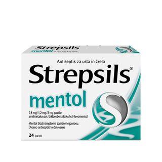 Strepsils z okusom mentola in evkalipta 0,6 mg/1,2 mg/8 mg pastile