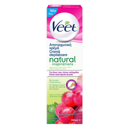 Veet® Cremă Depilatoare Natural Inspiration™ cu extract natural de Ulei din Semințe de Struguri