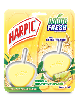 HARPIC ACTIVE FRESH HYGIENIC TOILET BLOCKS Citrus twin