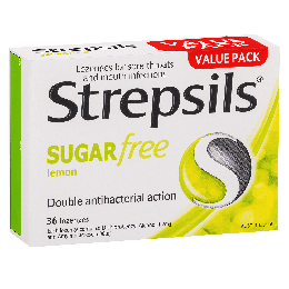 Strepsils Sugar Free Lemon Lozenges 36s