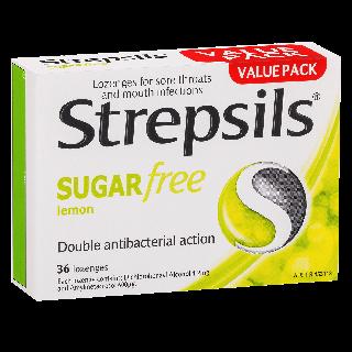 Strepsils Sugar Free Lemon Lozenges