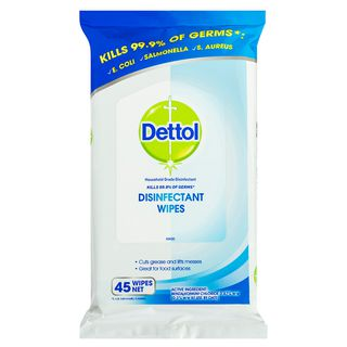 Dettol Anti-Bacterial Surface Wipes Fresh Household Disinfectant 45 Pack