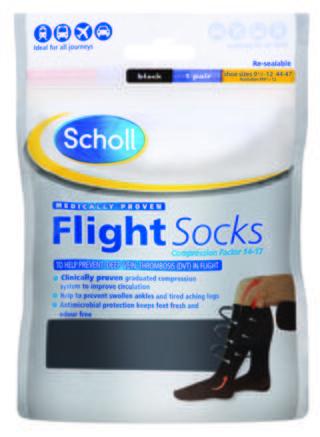 Scholl Flight Socks 9.5 - 12