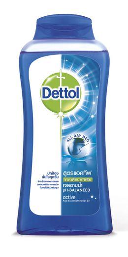 เดทตอล เจลอาบน้ำ แอนตี้แบคทีเรีย สูตรแอคทีฟ