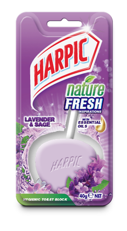 HARPIC ACTIVE FRESH HYGIENIC TOILET BLOCKS Lavender single