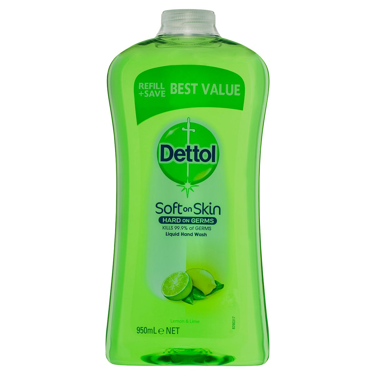 Dettol Liquid Hand Wash Lemon & Lime Refill 950mL