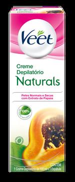 Veet Creme Depilatório Naturals com Extrato de Papaia
