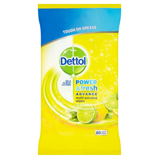 Dettol Power & Fresh Citrus Wipes 80s