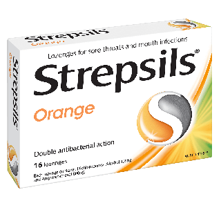 Strepsils Orange Lozenges 16s