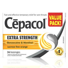 Cepacol Extra Strength - Sucrose Free Orange