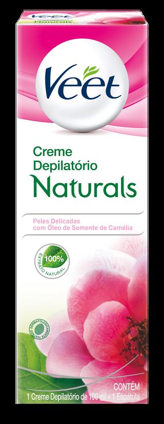 Veet Creme Depilatório Naturals com Óleo de Semente de Camélia