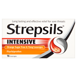 STREPSILS INTENSIVE ORANGE SUGAR FREE 8.75mg LOZENGES
