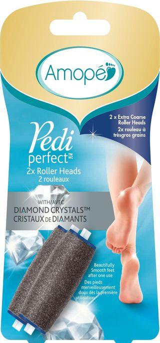 Deux rouleaux à très gros grains Amopé Pedi PerfectMC avec cristaux de diamants