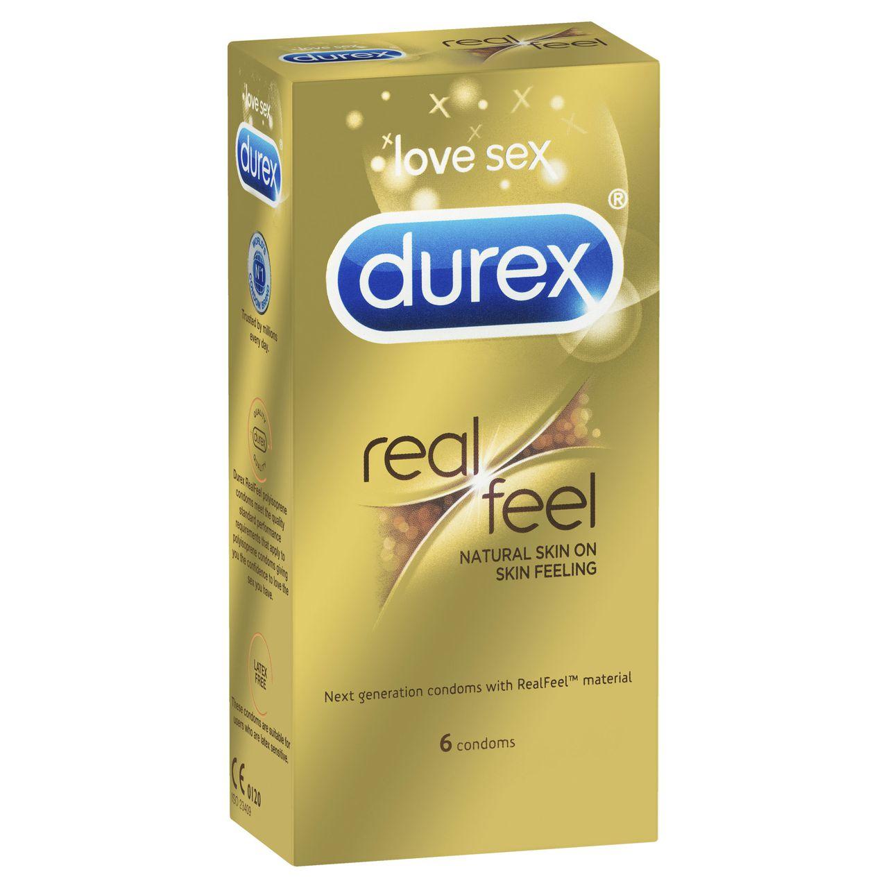 non latex size condoms feel real Durex