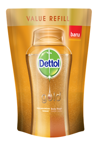 Sabun Cair Anti Bakteri Dettol Gold Classic Clean  (250ml)