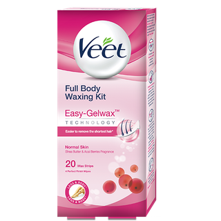Buy Veet Full Body Waxing Kit Nornal Skin 20 Wax Strips Online Veet