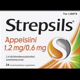 Strepsils Appelsiini imeskelytabletti 24 kpl.